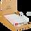 Thumbnail: Box of 20 Leya's Oaties - STRAWBERRY Oat Bar with Swiss Chocolate enrobing.