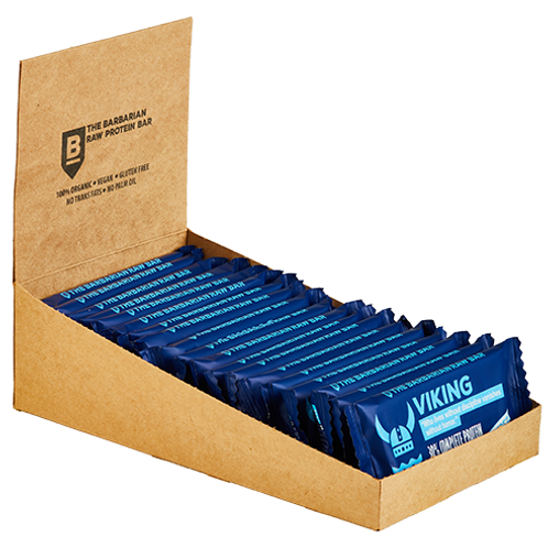 Box of 22 The BarBarian Viking BLUEBERRY - 30% protein raw bar