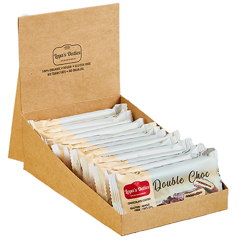 Box of 20 Leya's Oaties - DOUBLE CHOC Oat Bar with Swiss Chocolate enrobing.