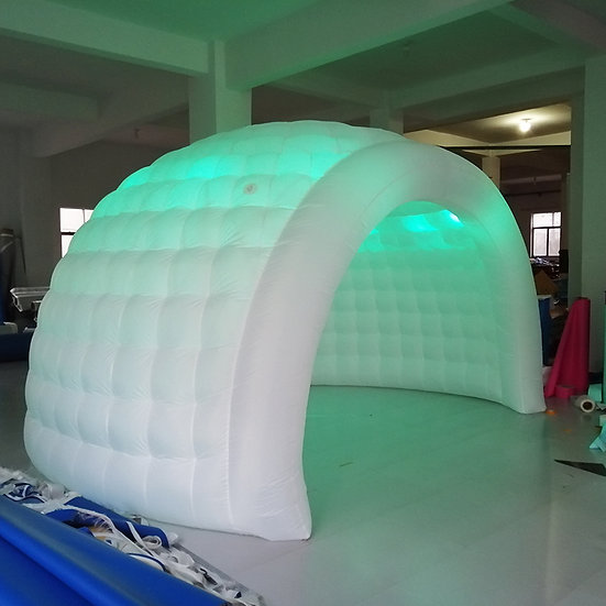 Cabina Inflable Iluminada Semiesférica