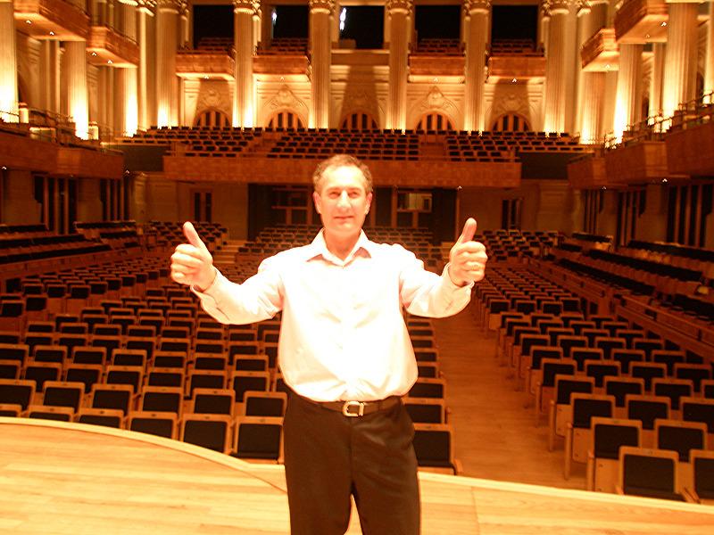 working in Teatro Sao Paulo