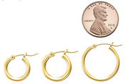 #7 Gold Hoop Earrings