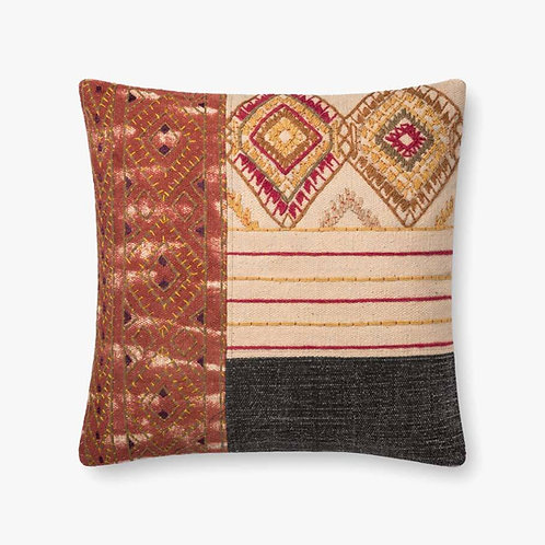 Rust and Grey Brown Pillow