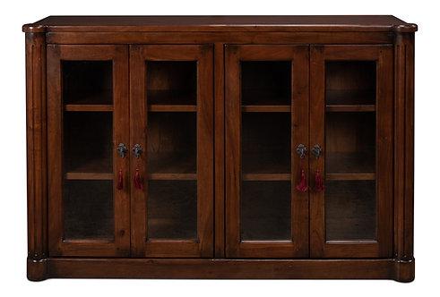 Boulle Column Book Cabinet