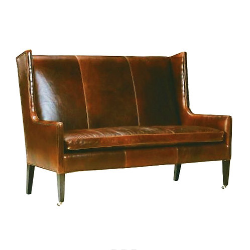 Jerod Leather Loveseat in Tampa Cigar Leather