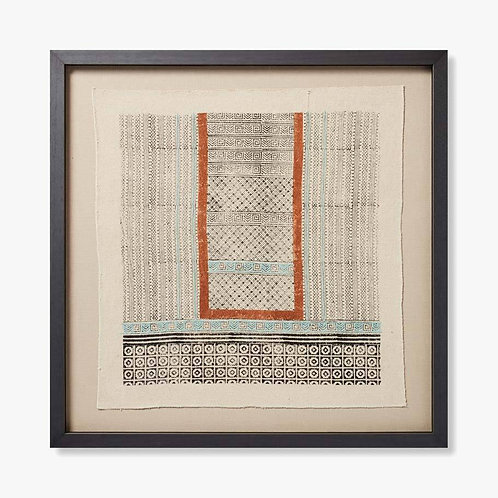 Betwa Framed Textile Artwork