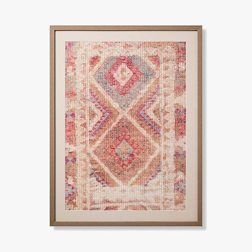 Garnet Framed Textile Artwork
