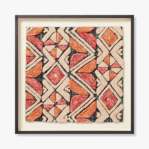 Kojo Framed Textile Artwork