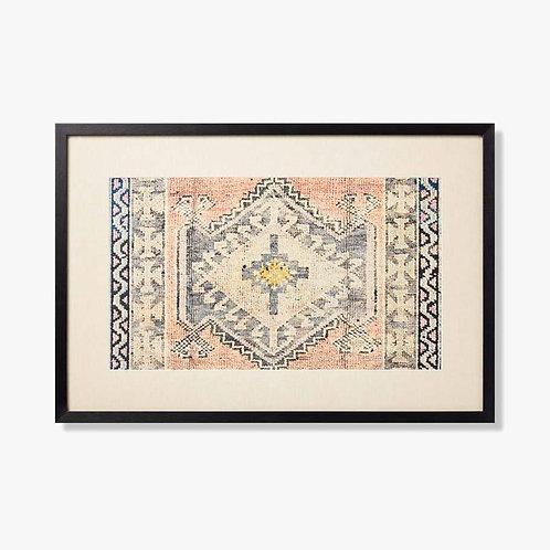 Quartz Framed Textile Artwork