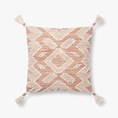 Blush and Natural Tassel Pillow