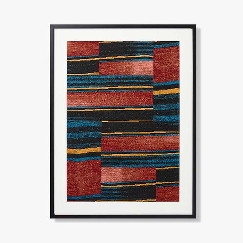Poncho Framed Textile Artwork