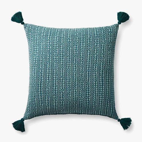 Green Tassel Pillow