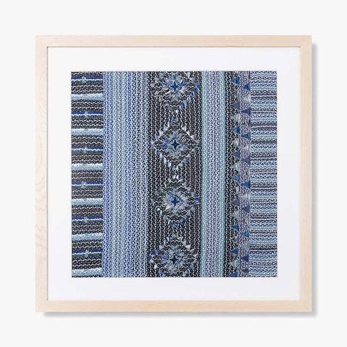 Indigo Place Framed Textile Artwork