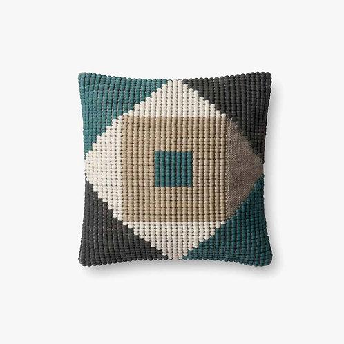 Teal Gray Pillow
