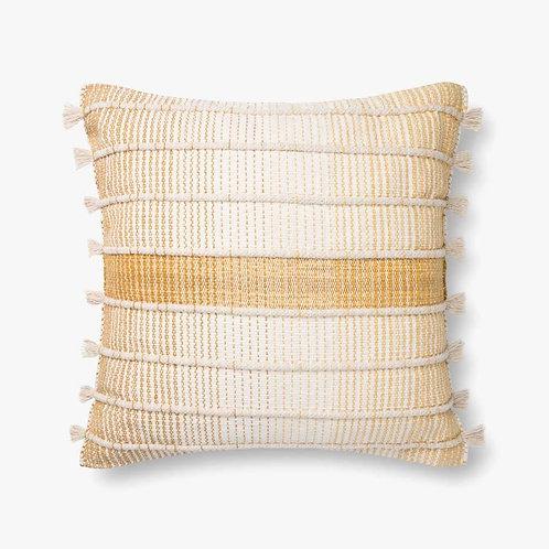 Gold and Natural Pillow