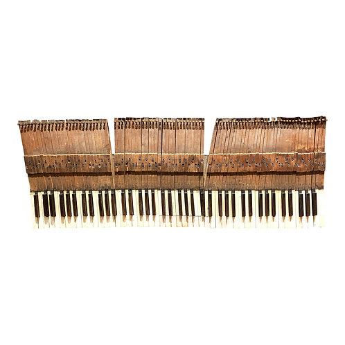 1920s Antique Piano Keys Mounted Wall Decor