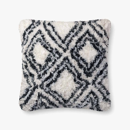 White and Charcoal Pillow
