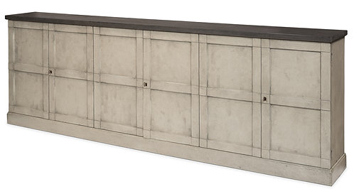 Long Weathered Grey Wood Sideboard