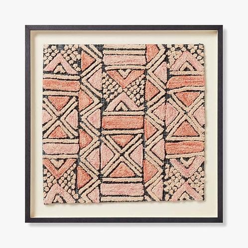 Shoowa Framed Textile Artwork