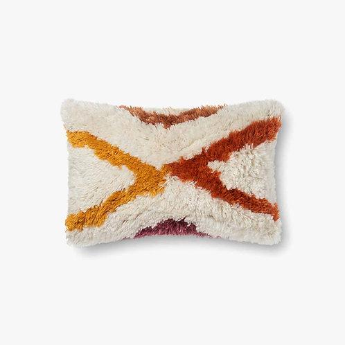 Red and Orange Lumbar Pillow