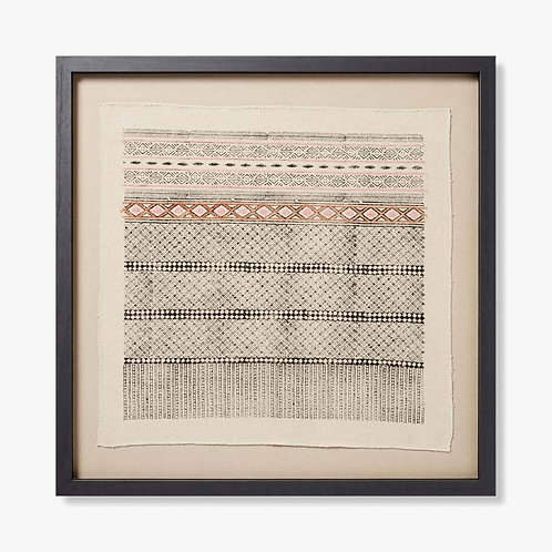 Indus Framed Textile Artwork