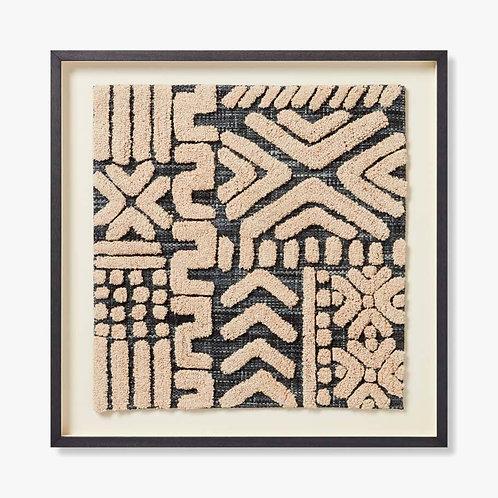Lulua Framed Textile Artwork