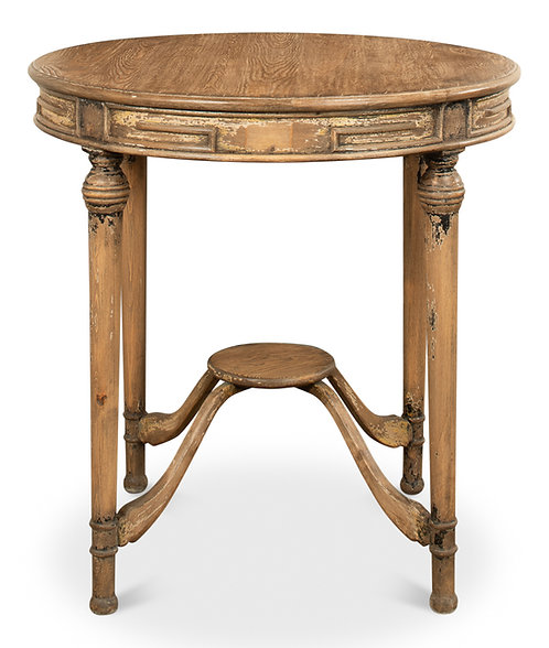 French Round Side Tea Table