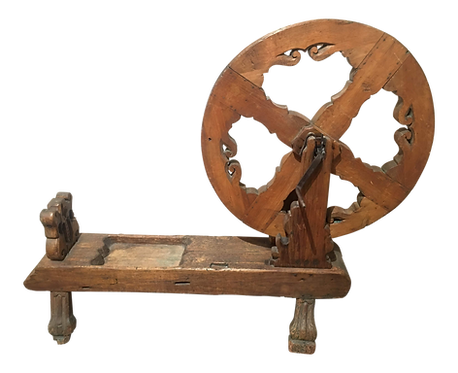 Antique Pine Spinning Wheel