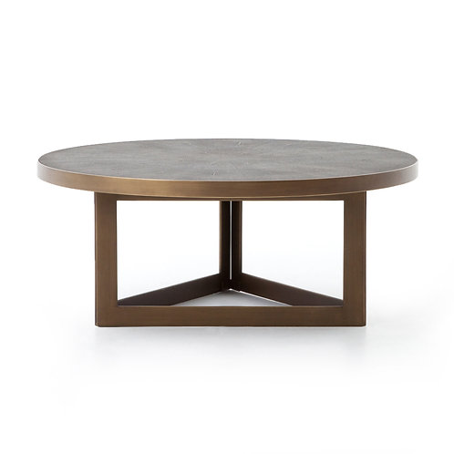 Lotte Shagreen Round Coffee Table