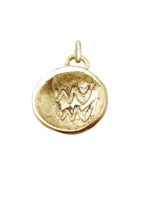 Aquarius 'Astrology' petite amulet