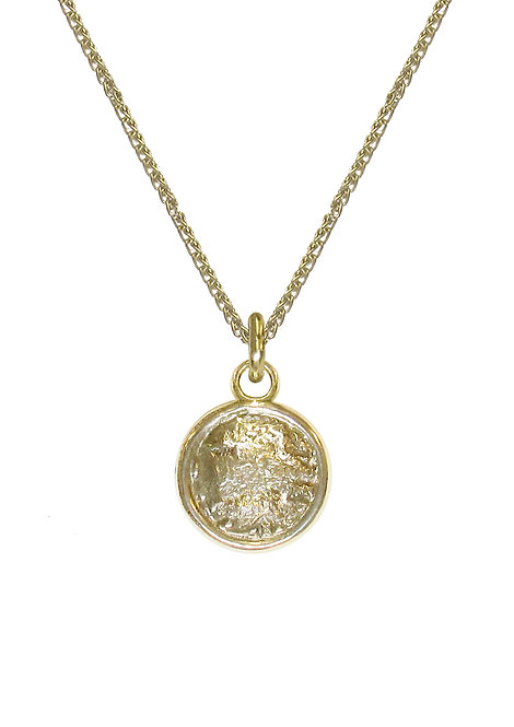 'Collect' large disc pendant