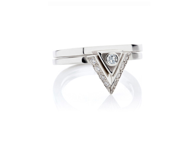'Sacred' double ring