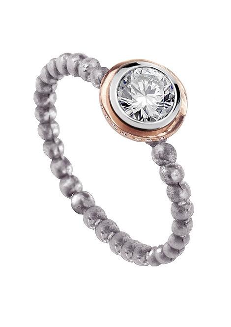 'Tesselatte' side set brilliant ring set