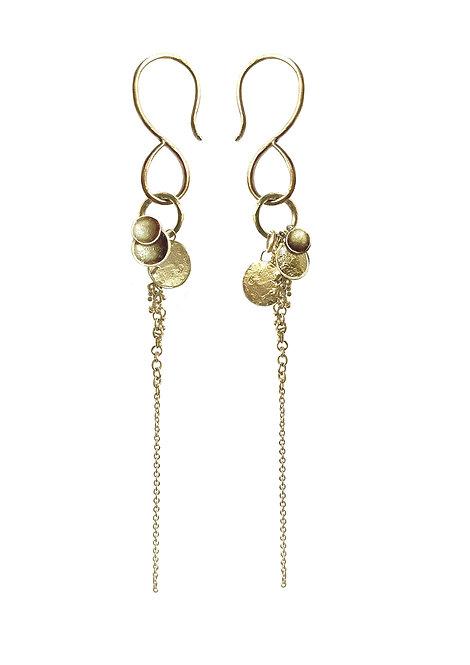 'Collect' multi drop earrings