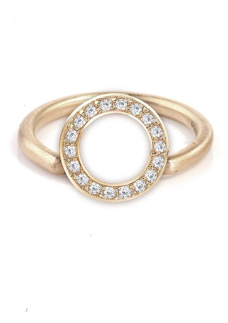 'Tesselatte' brilliant shoulder partner ring