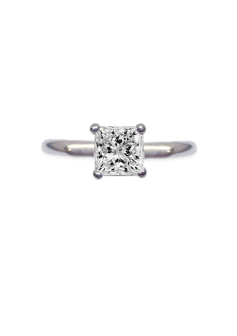 'Tesselatte' princess solitare ring