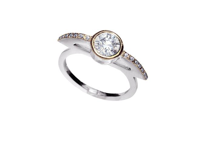 'Sacred' large stone ring