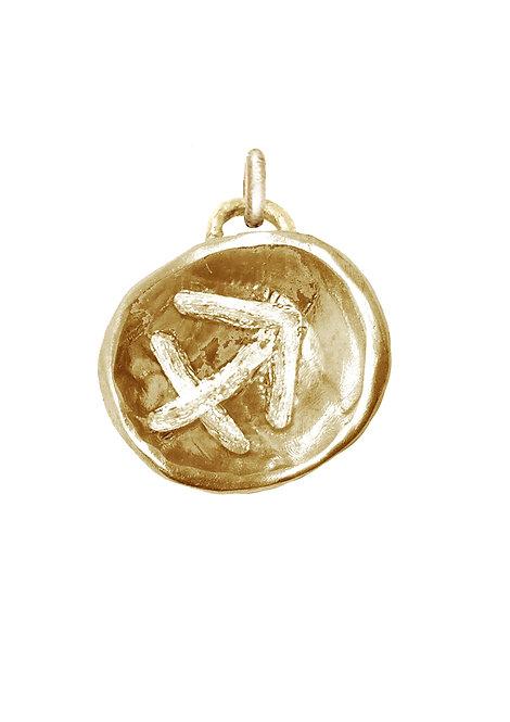 Sagittarius 'Astrology' petite amulet
