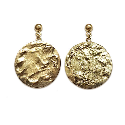 'Collect' large disc earrings
