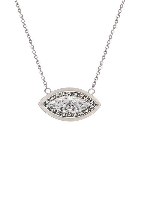 'Carat' marquis diamond necklace