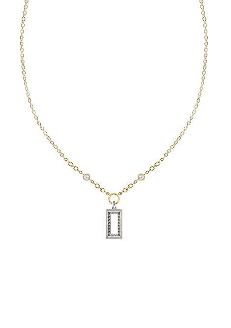 'Carat' baguette single heavy chain necklace