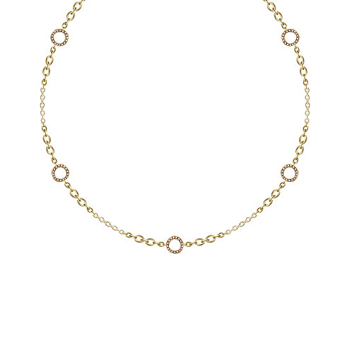 'Carat' brilliant chain necklace