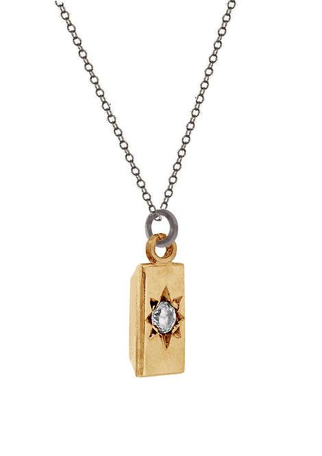 'Carat' baguette pendant necklace