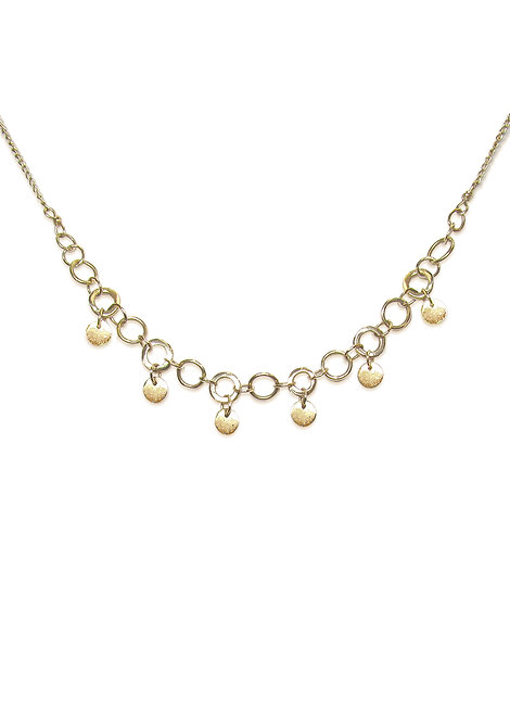 'Collect' multi disc necklace