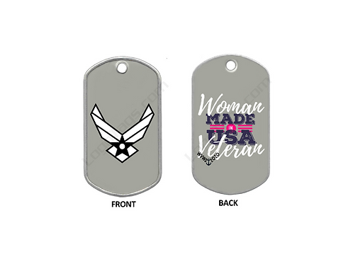Dog Tag - Airforce - Woman Veteran