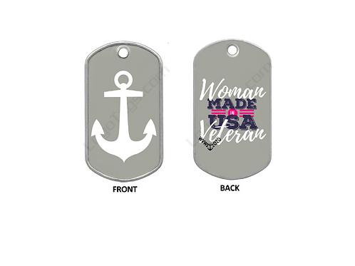 Dog Tag - Navy- Woman Veteran