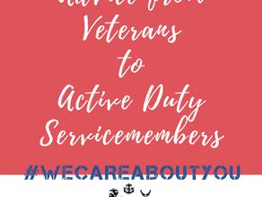 Advice from Veteran Women to Active Duty Women