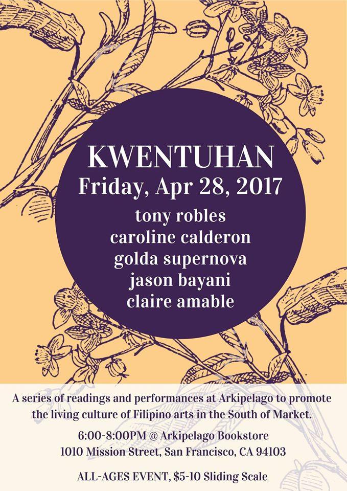 San Francisco: Kwentuhan : A Series of Readings & Performances at Arkipelago.