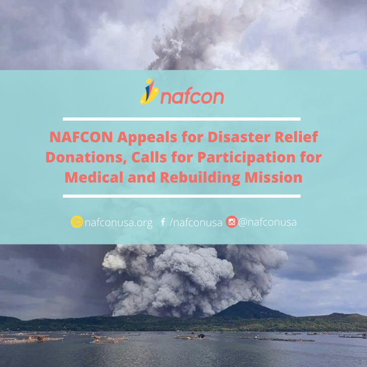 NAFCON Appeals for Disaster Relief Donations, Calls for Participation for Medical and Rebuilding Mis