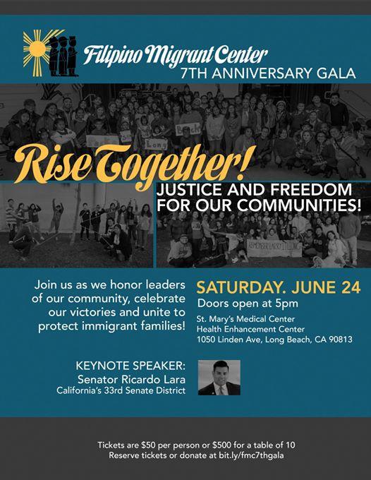 Long Beach: FMC - Filipino Migrant Center 7th Anniversary Gala